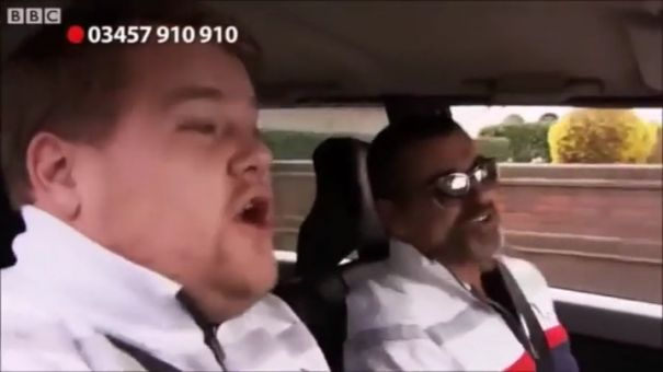 George was the first to do Carpool Karaoke with James Corden