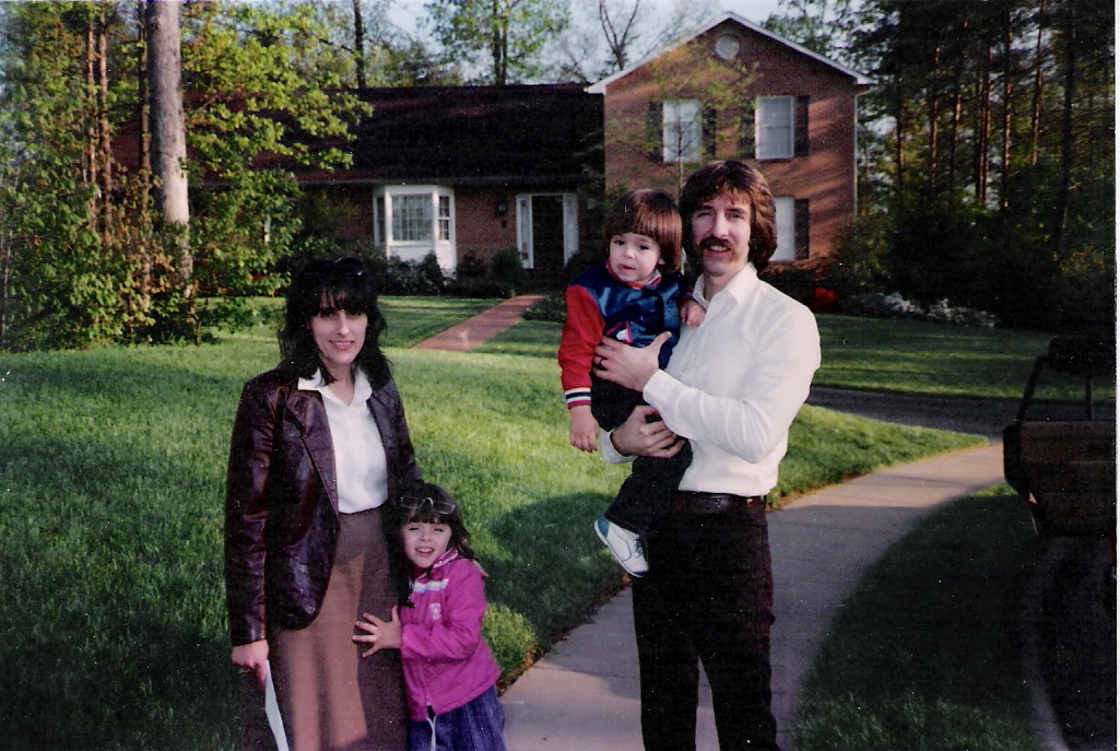 The whole family together in 1987...dad had bought me those sunglasses; I wore them until they broke.