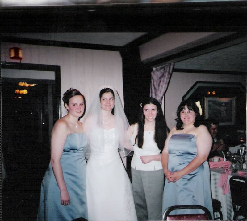 The wedding Mags & I attended ; our friend Margaret's, who now has a daughter, Hannah Elizabeth