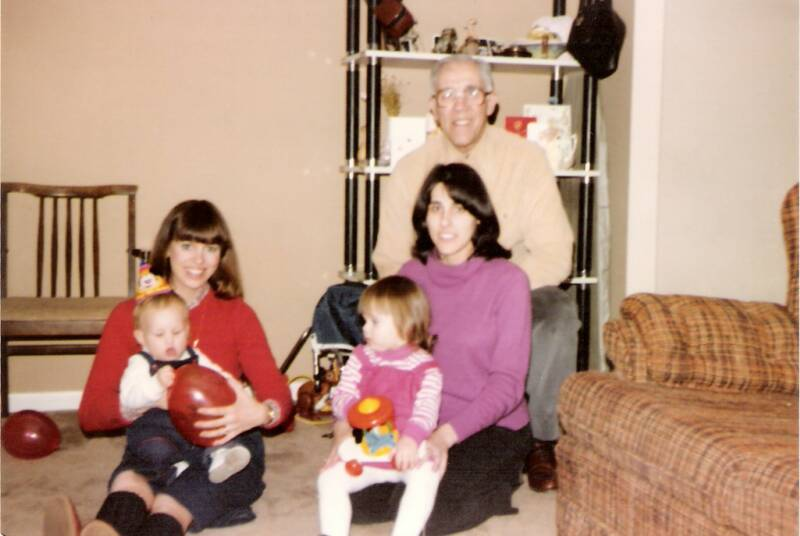 MaryKay & Todd;  Grandpa, Mom & me (on my 2nd, also)