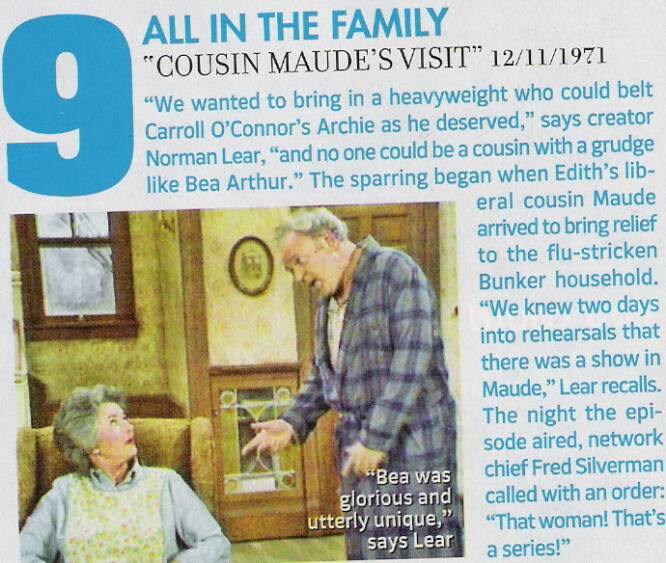 "#9 on the most memorable TV moments:""Maude's Visit"""