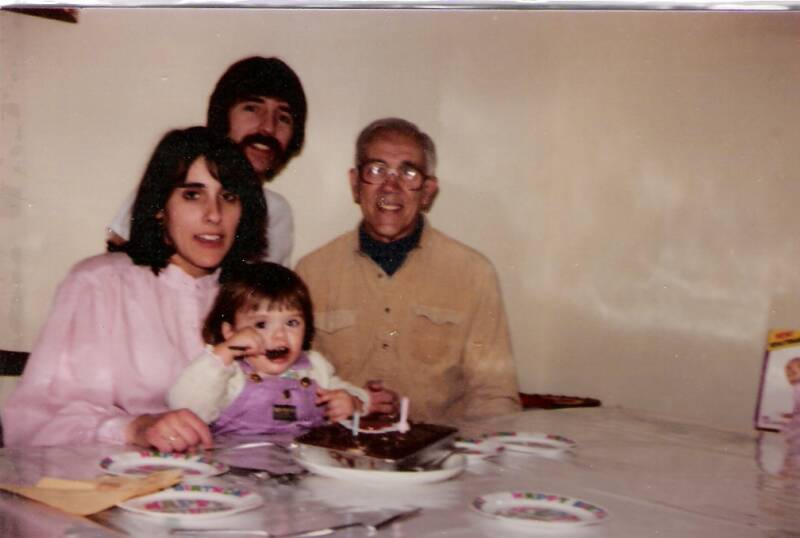 I turned 2 here ;my paremts and Grandpa