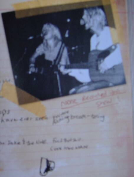 "Also from ""Dirty Blonde; Courtney and Kurt playing guitar together"