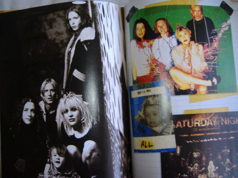 "Hole in B&W and in color (including ""little Courtney"" on the right-sided page; marked ""ALL""--Also Hole on SNL"