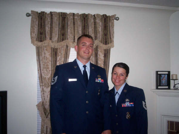 Blake and a fellow Tech Sgt in 2007