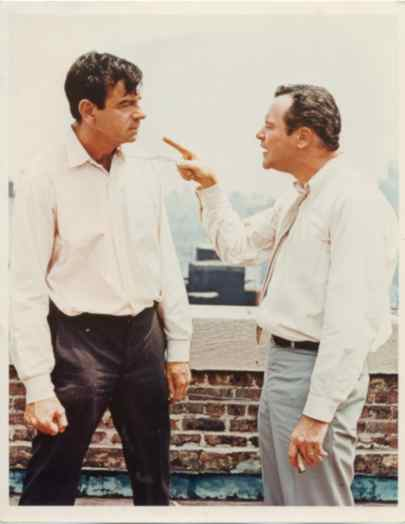 "Walter and Jack on break during ""The Odd Couple"""