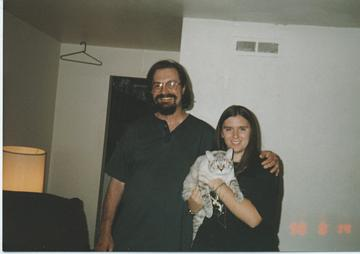 The next time I saw my Uncle Bill R  was 13 years later in August 1998. I'm holding Chong. (I was 16 1/2.) Sadly, Chong passed in 2009