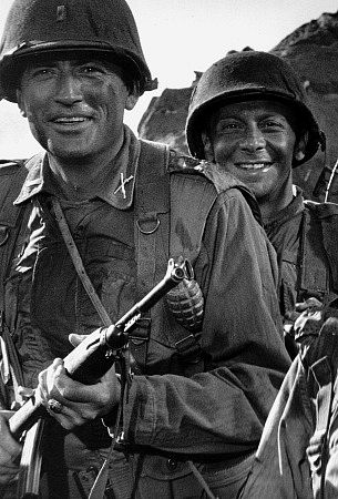 Gregory Peck and Norman Fell in 1959